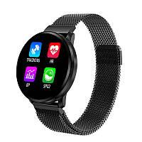 Сенсорные смарт-часы CF68 Black, спорт часы, умные часы, наручные часы, фитнес браслет, фитнес трекер, фото 1