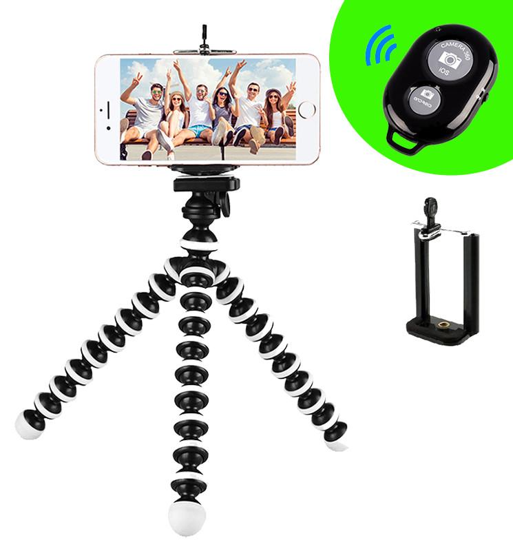 Гибкий Настольный Мини Штатив Трипод Осьминог Z01 для Телефона Экшн Камеры 17 см