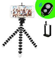 Гибкий Настольный Мини Штатив 17 см Трипод Осьминог Z01 для Телефона Экшн Камеры с Bluetooth Кнопкой