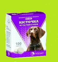 Витамины для собак КОСТОЧКА мультивитамин упаковка - 100 табл, фото 2