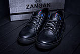 Чоловічі шкіряні кеди ZG Black Stage, фото 8