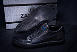 Чоловічі шкіряні кеди ZG Black Stage, фото 10