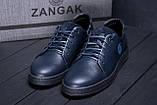 Мужские кожаные кеды ZG GO GO Man Blue spring, фото 7