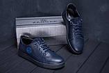 Мужские кожаные кеды ZG GO GO Man Blue spring, фото 9