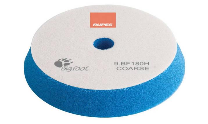 Полірувальний круг поролоновий грубий - Rupes BigFoot coarse 150/180 мм. синій (9.BF180H), фото 2