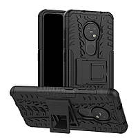 Чехол Armored для Nokia 7.2 противоударный бампер с подставкой черный