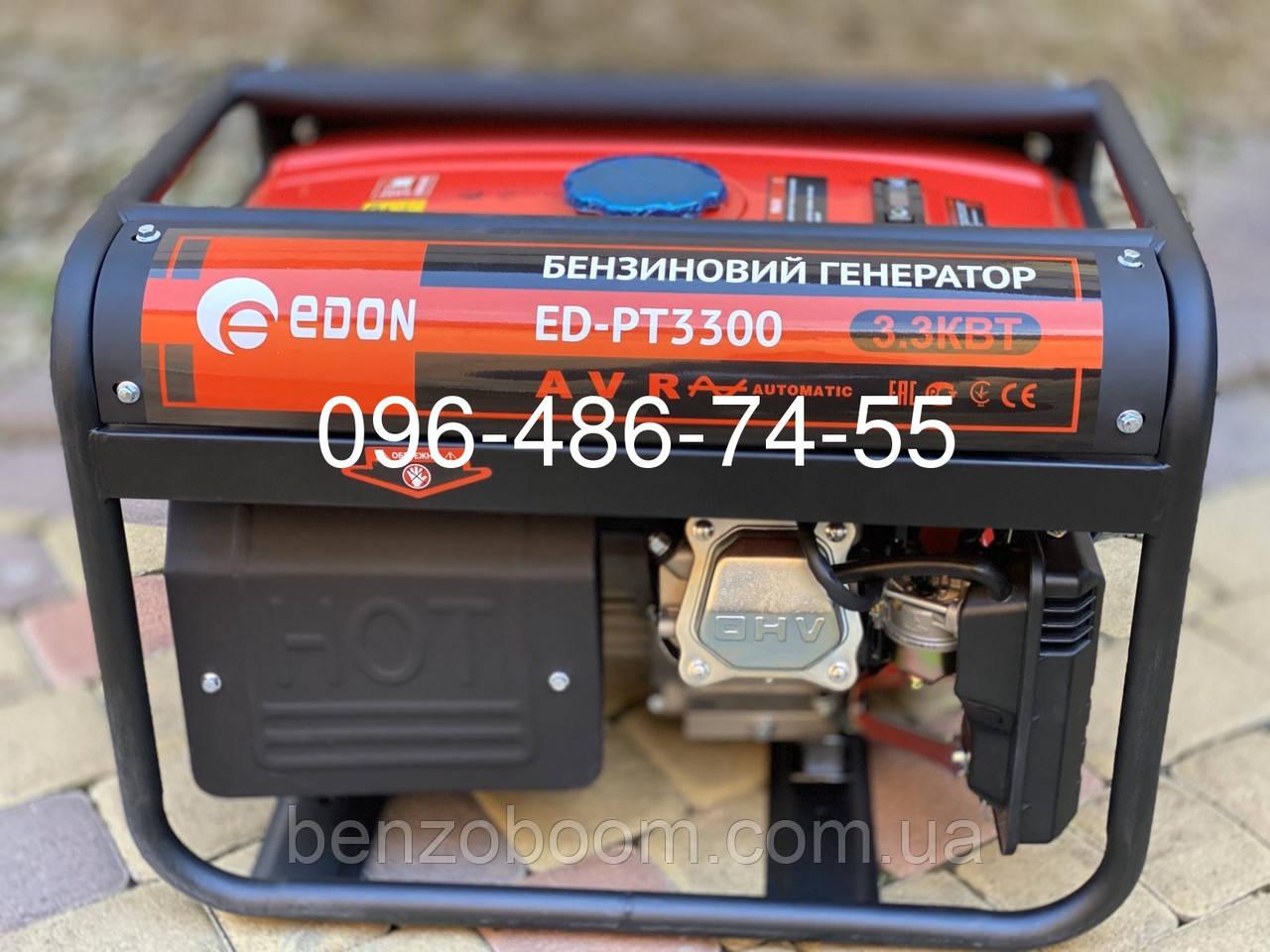 Генератор бензиновый Edon ED-PT3300 3.3 кВт медная обмотка