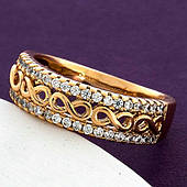 Кольцо женское, медицинское золото Xuping. В наличии только 20 размер