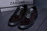 Мужские кожаные кеды ZG GO GO Man Black spring, фото 8
