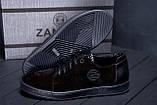 Мужские кожаные кеды ZG GO GO Man Black spring, фото 9