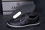 Чоловічі шкіряні кеди ZG New Line Black, фото 7