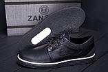 Мужские кожаные кеды ZG New Line Black, фото 7