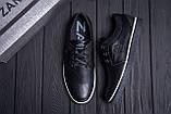 Мужские кожаные кеды ZG New Line Black, фото 10