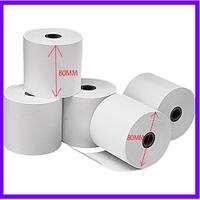 Термобумага 80х80 мм / термолента / чековая бумага/ термо-лента/ кассовые термоленты /термопапір