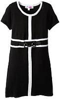 Детское черное платье тонкой вязки Derk Heart (США); 10-12 лет