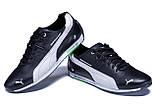 Чоловічі шкіряні кросівки Puma BMW MotorSport Black, фото 4