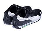 Чоловічі шкіряні кросівки Puma BMW MotorSport Black, фото 6