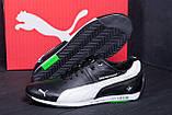 Чоловічі шкіряні кросівки Puma BMW MotorSport Black, фото 8