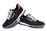 Мужские кожаные кроссовки  Reebok Classic black, фото 4