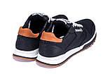 Мужские кожаные кроссовки  Reebok Classic black, фото 6