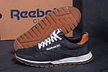 Мужские кожаные кроссовки  Reebok Classic black, фото 7