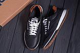 Мужские кожаные кроссовки  Reebok Classic black, фото 10