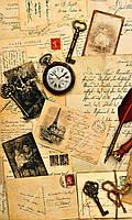 Фотообои на флизелиновой основе - Старые открытки, винтаж (ширина рулона -1,03м)