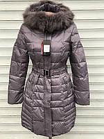 Женская зимняя серая куртка распродажа