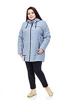 Женская куртка Зима/осень Цвет Серо-голубой  размеры 48-58