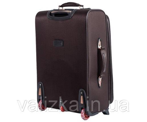 Текстильный чемодан средний YADIHAOBIN на двух колесах коричневый, фото 2