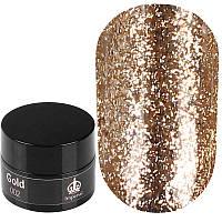 Imperial Platinum Gel Gold № 002 - слюда для декора ногтей золотая, 7 г