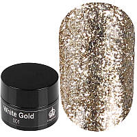 Imperial Platinum Gel White Gold № 001 - слюда для декора ногтей белое золото, 7 г