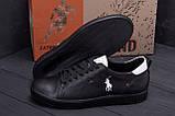 Чоловічі шкіряні кросівки Polo Clasic Black, фото 7