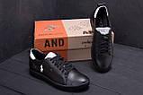 Чоловічі шкіряні кросівки Polo Clasic Black, фото 9