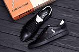 Чоловічі шкіряні кросівки Polo Clasic Black, фото 10