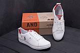 Чоловічі шкіряні кросівки Polo Clasic White, фото 9