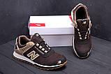 Мужские кожаные кроссовки NB Clasic Brown, фото 10