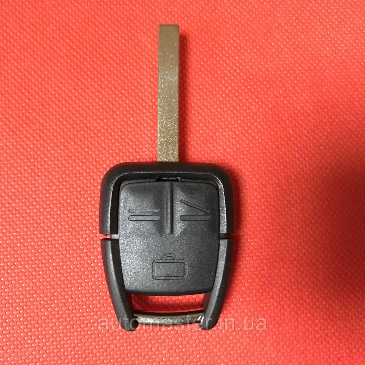 Ключ корпус для Opel (Опель) Астра, Омега, Вектра, Тигра, Зафира Omega, Vectra, Astra 3 - кнопки HU100