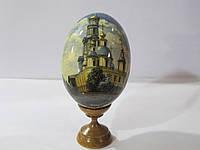 Яйцо расписное на подставке дерево (бук), Харьков Успенский собор