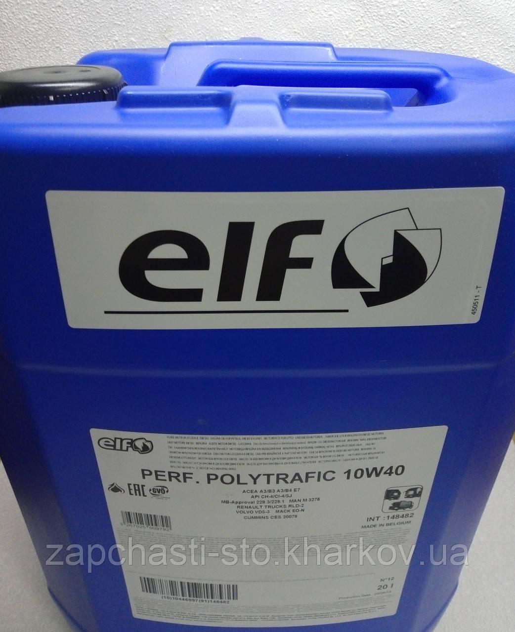 Масло дизельное ELF Performance Polytrafic 10W40 канистра 20л