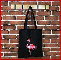 Эко сумка, сумка шоппер, шоппер, тканевая сумка Flamingo
