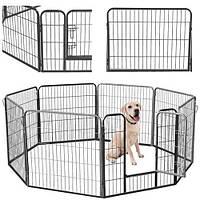 Огорожа для собак металева 80*80 см 8 секцій, вольер, клетка, манеж MALATEC, фото 1