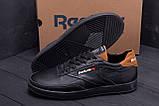 Мужские кожаные кроссовки Reebok Black line, фото 7