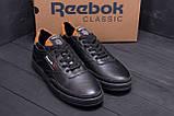 Мужские кожаные кроссовки Reebok Black line, фото 8