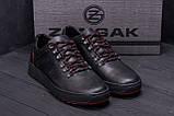 Чоловічі шкіряні кеди ZG Aircross Black and Red, фото 9