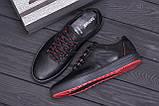 Чоловічі шкіряні кеди ZG Aircross Black and Red, фото 10