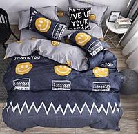 Полуторный комплект постельного белья бязь «Смайлы»