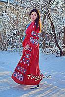 Вышиванка платье вышитое, красное платье лен, вишите плаття вишиванка, вечернее платье в пол