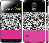 "Чехол на Samsung Galaxy S5 g900h Шкура леопарда v3 ""2723c-24"""