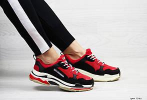 Кроссовки Balenciaga, Баленсиага, черные с красным,